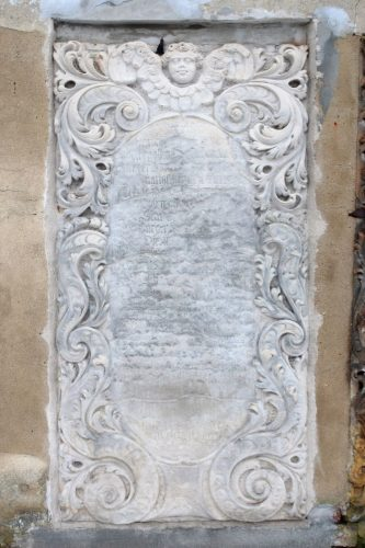 Epitaph plate