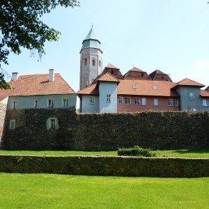 Kożuchów old town with medieval city walls
