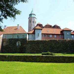 Kożuchów old town with medieval city walls